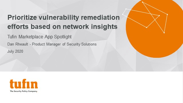 Prioritize vulnerability remediation efforts based on network insights
