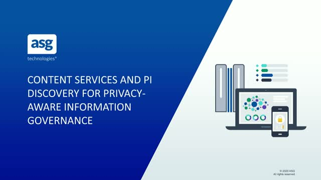 Content Services and PI Discovery for Privacy-Aware Information Governance