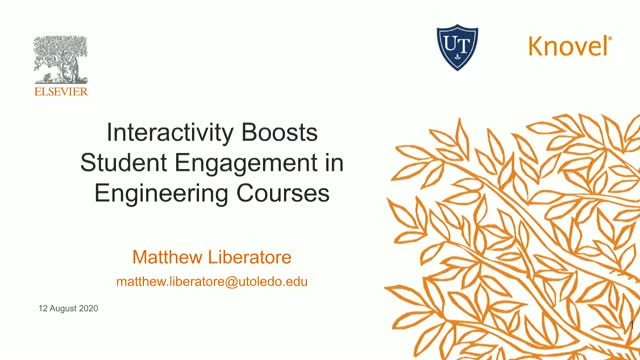 Interactivity Boosts Student Engagement in Engineering Courses