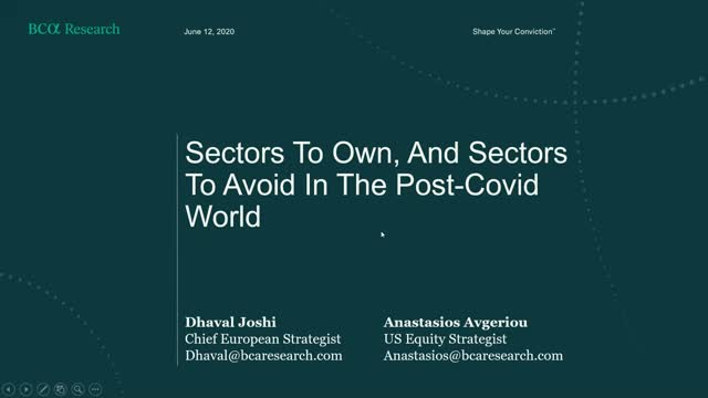 Sectors To Own, And Sectors To Avoid In The Post-Covid World