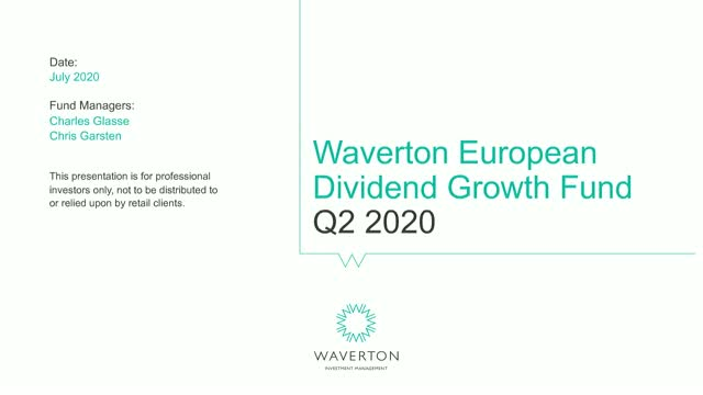 Waverton European Dividend Growth Fund Update Q2 2020