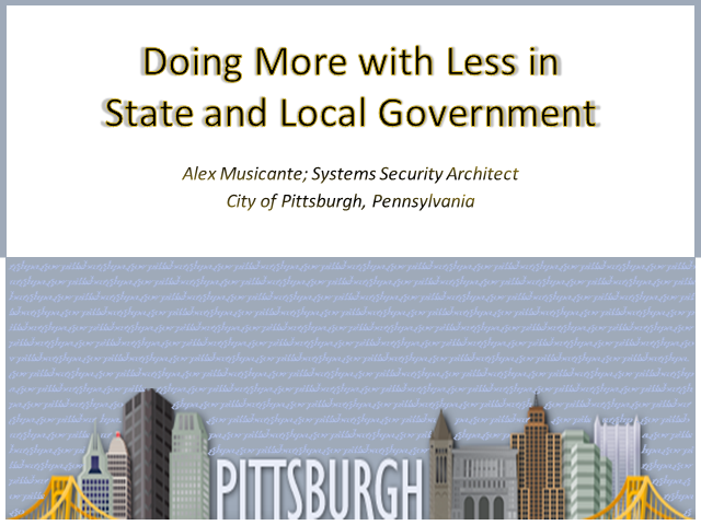 Desktop Virtualization: Doing More with Less in State and Local Government