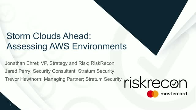 Storm Clouds Ahead: Assessing AWS Environments