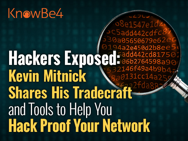 Hackers Exposed: Kevin Mitnick Shares His Tradecraft and Tools
