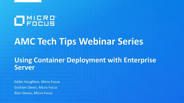 Tech Tips: Container Deployment