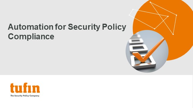 TechTalk: Automation for Security Policy Compliance