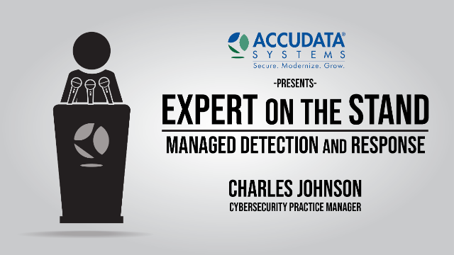 Expert on the stand | Managed Detection and Response
