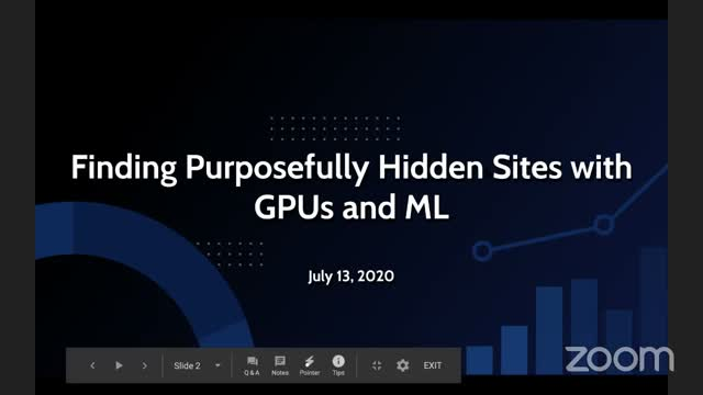 MinneAnalytics Mondays: Finding Purposefully Hidden Sites with GPUs and ML