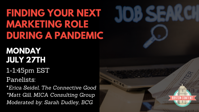 Finding your next marketing role during a pandemic