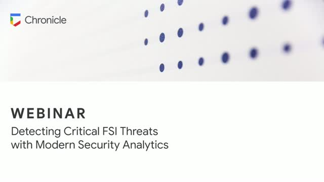 Detecting Critical FSI Threats with Modern Security Analytics