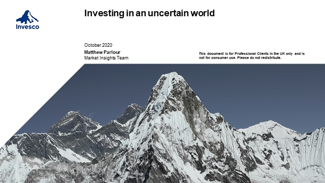 Investing in an uncertain world - The outlook for the global economy