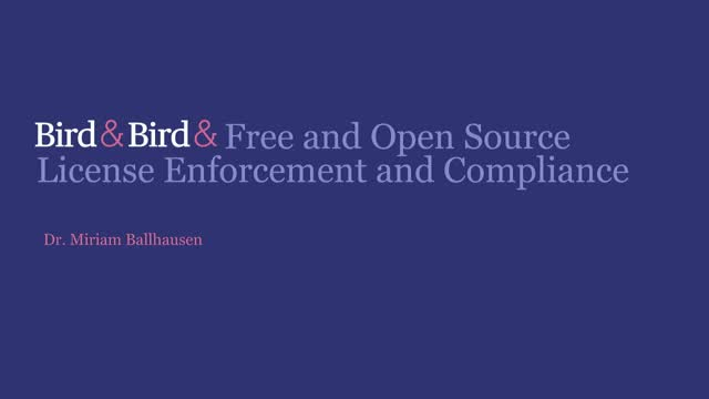 Free and Open Source License Enforcement and Compliance