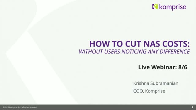 How to Cut NAS costs without Users Noticing Any Difference