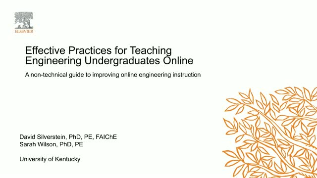 Applying Principles of Effective Teaching to Online Instruction in Engineering