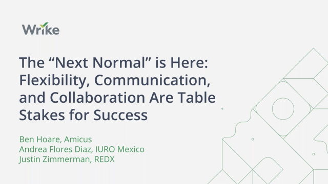 """The """"Next Normal"""" is Here: Flexibility, Communication, and Collaboration are Key"""