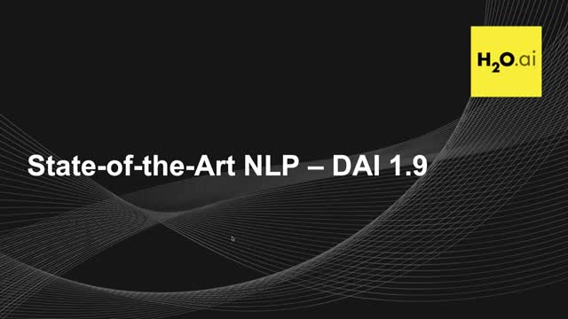 State of The Art NLP Models in H2O Driverless AI 1.9