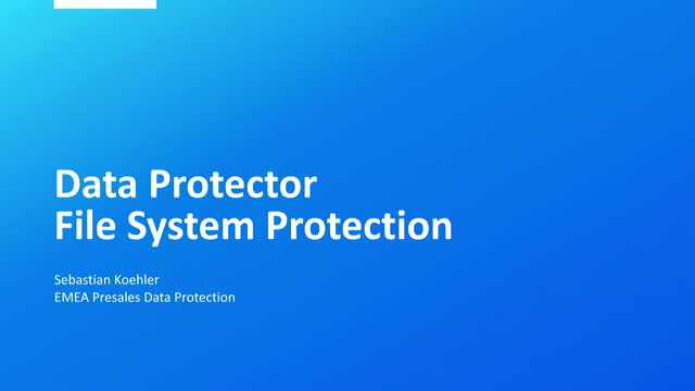 Data Protector zum Wochenstart: Data Protector – Deep Dive Session