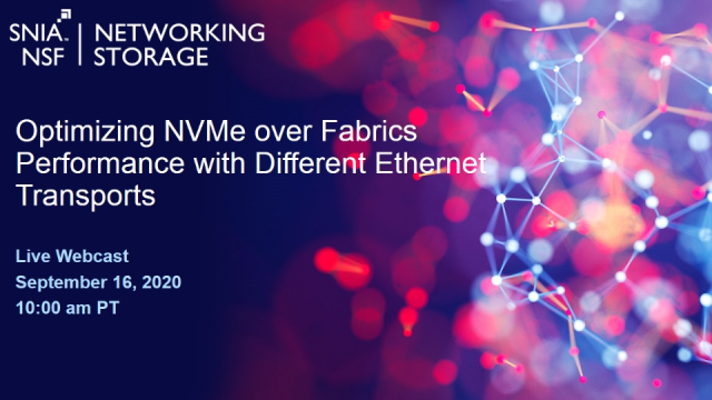 Optimizing NVMe over Fabrics Performance with Different Ethernet Transports