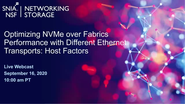 Optimizing NVMe-oF Performance with Different Ethernet Transports: Host Factors