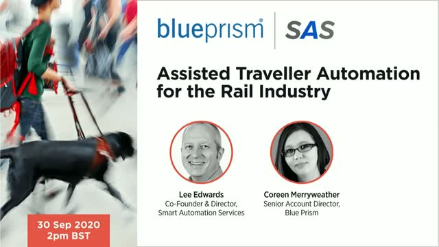 Assisted Traveller Automation for the Rail Industry