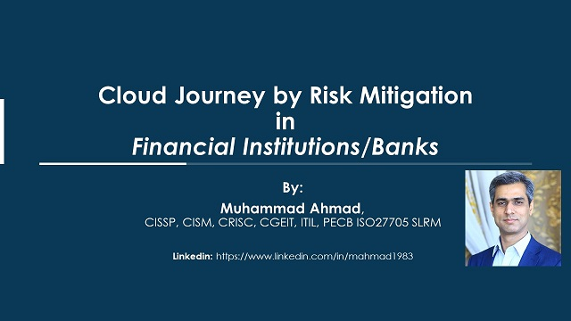 Cloud Journey by Risk Mitigation in Financial Institutions/Banks