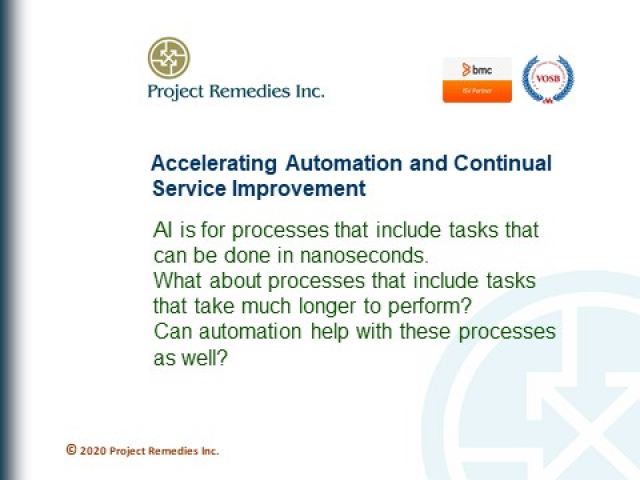 Accelerating Automation and Continual Service Improvement