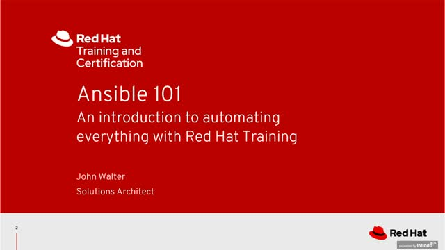 Ansible 101—An introduction to automating everything with Red Hat Training