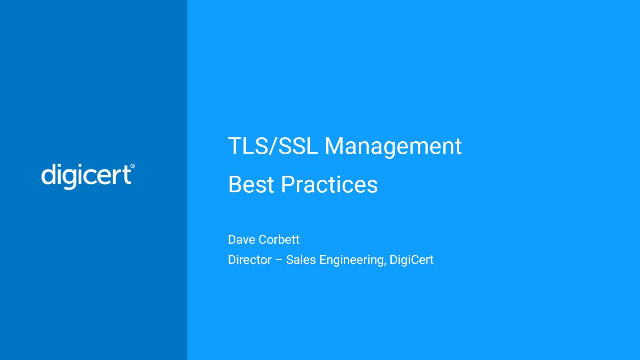 TLS/SSL Management Best Practices