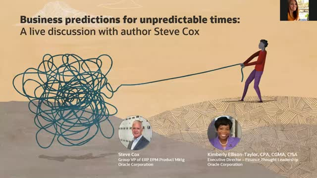 Business Predictions for Unpredictable Times: A Live Discussion with Steve Cox