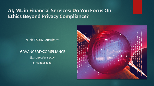 AI, ML in Financial Services: Do You Focus On Ethics Beyond Privacy Compliance?