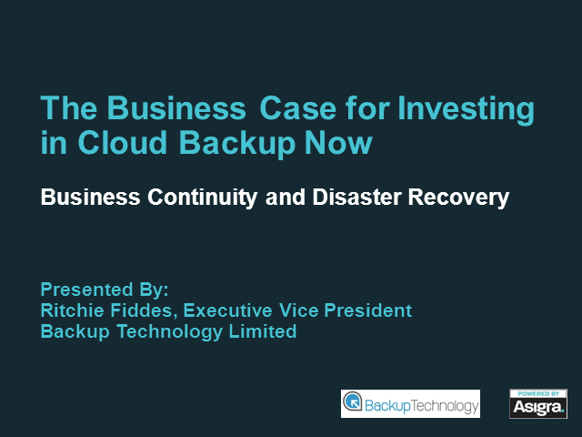 The Business Case for Investing in Cloud Backup Now