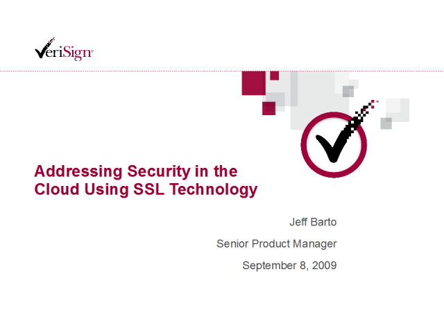 Addressing Security in the Cloud Using SSL Technology