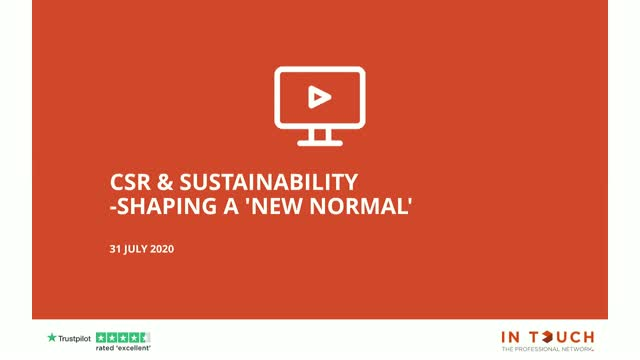 CSR & Sustainability: Shaping a 'New Normal'