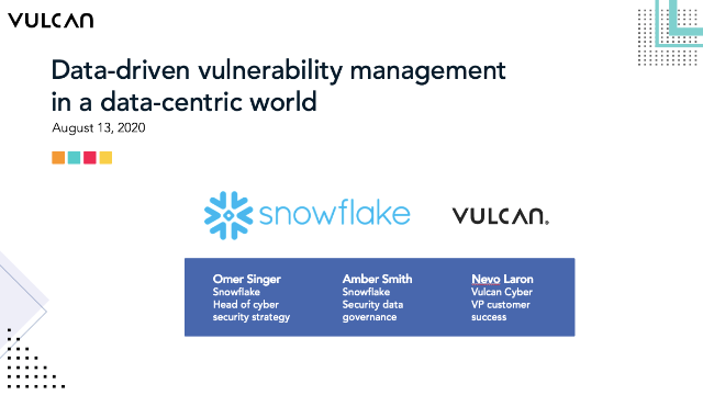 Data-driven vulnerability management in a data-centric world