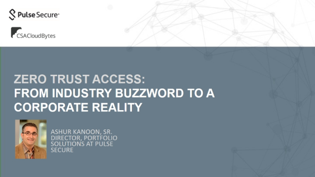 Zero Trust Access: From industry buzzword to a corporate reality