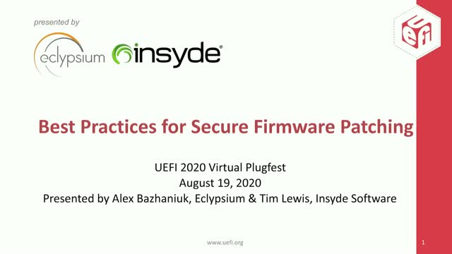 Best Practices for Secure Firmware Patching