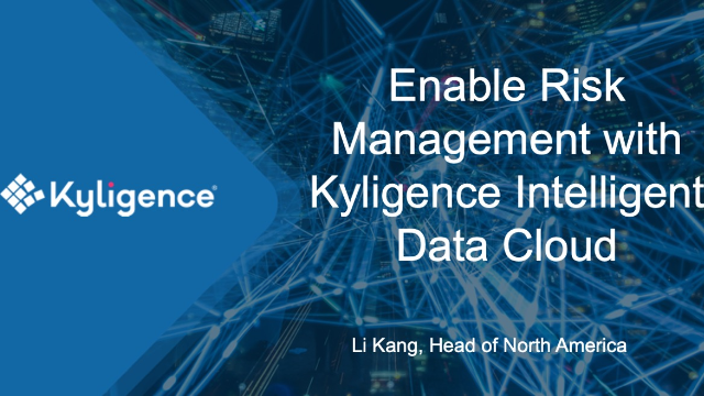 Case Study: Enable Risk Management with Kyligence Intelligent Data Cloud