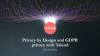 Privacy by Design and GDPR Compliance with Talend