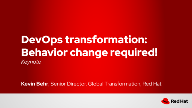 DevOps transformation: Behavior change required!