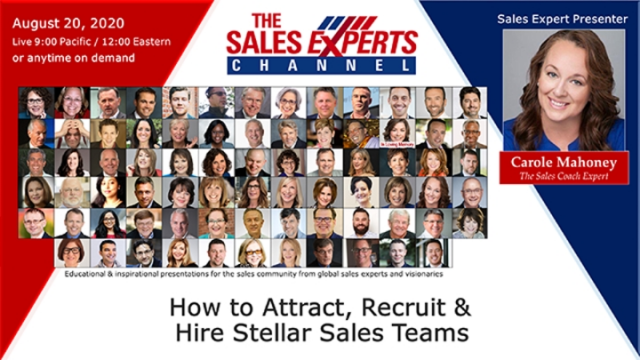 How to Attract, Recruit & Hire Stellar Sales Teams