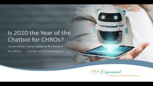 Is 2020 the Year of the Chatbot for CHROs?