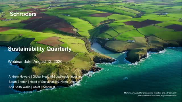 Sustainability Quarterly: Stepping back and focusing on the long term
