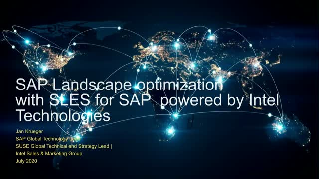 Optimize SAP landscapes with Intel processor and persistent memory technologies