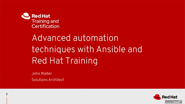 Advanced automation techniques with Ansible and Red Hat Training