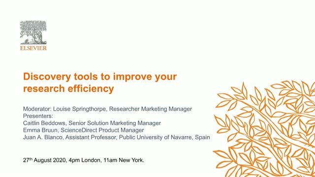 Discovery tools to improve your research efficiency