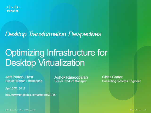 Optimizing Storage for Desktop Virtualization