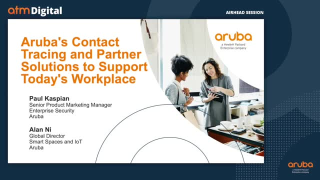 Aruba's Contact Tracing and Partner Solutions to Support Today's Workplace