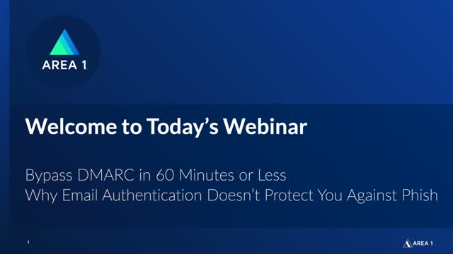 Bypass DMARC in 60 Minutes or Less