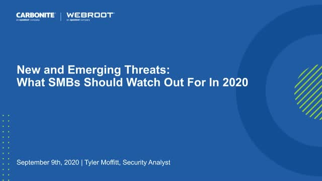 New and Emerging Threats: What SMBs Should Watch Out For In 2020