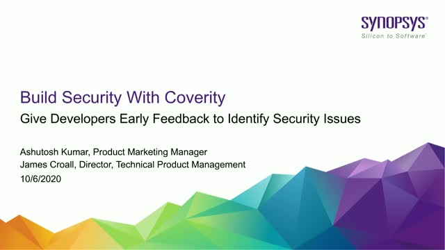 Give Developers Earlier Feedback to Identify Security Issues
